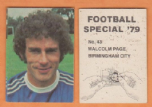 Birmingham City Malcolm Page Wales